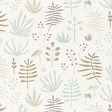Casadeco All Over Jungle Brown & Blue Wallpaper - Product code: HPDM8273 1209