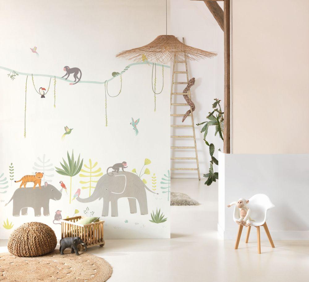 Jungle Panel Mural - Multi - by Casadeco