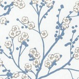 Caselio Sakura Blue Wallpaper
