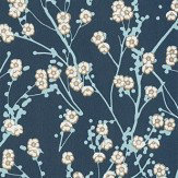 Caselio Sakura Navy Wallpaper