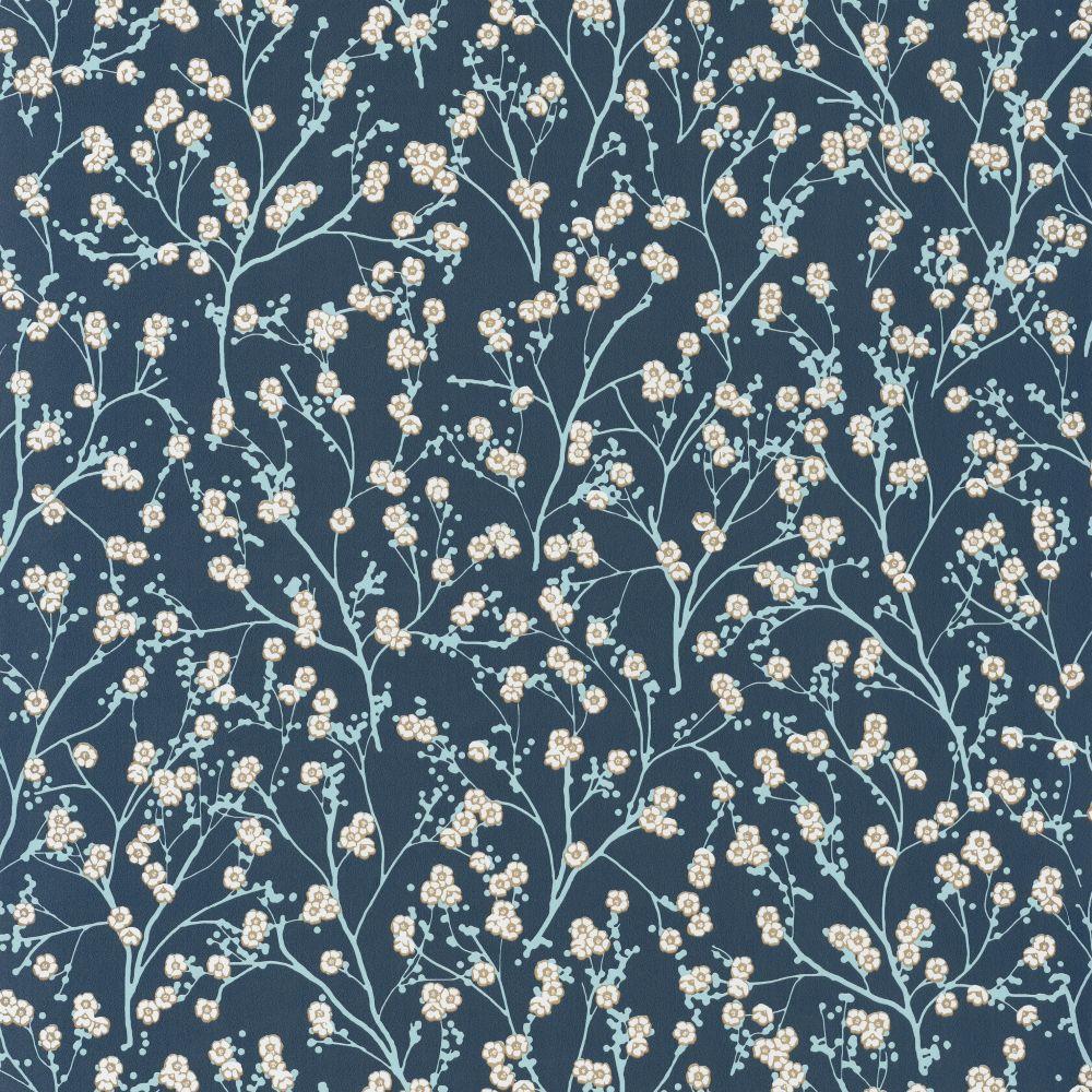 Caselio Sakura Navy Wallpaper main image
