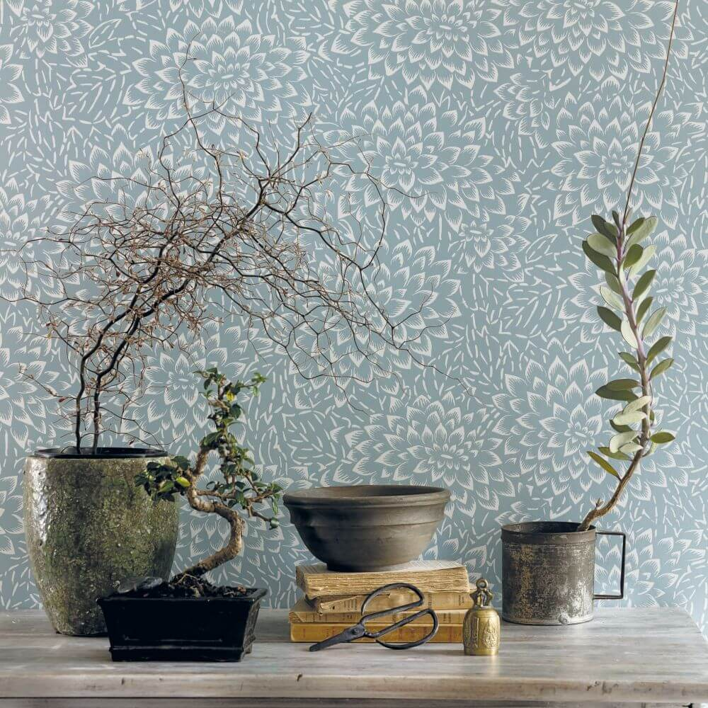 Caselio Hana Pale Blue Wallpaper - Product code: HAN10035 62 26
