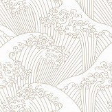 Caselio Nami Metallic Gold Wallpaper