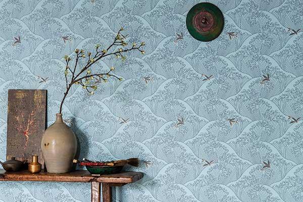 Caselio Sushi Pale Blue Wallpaper