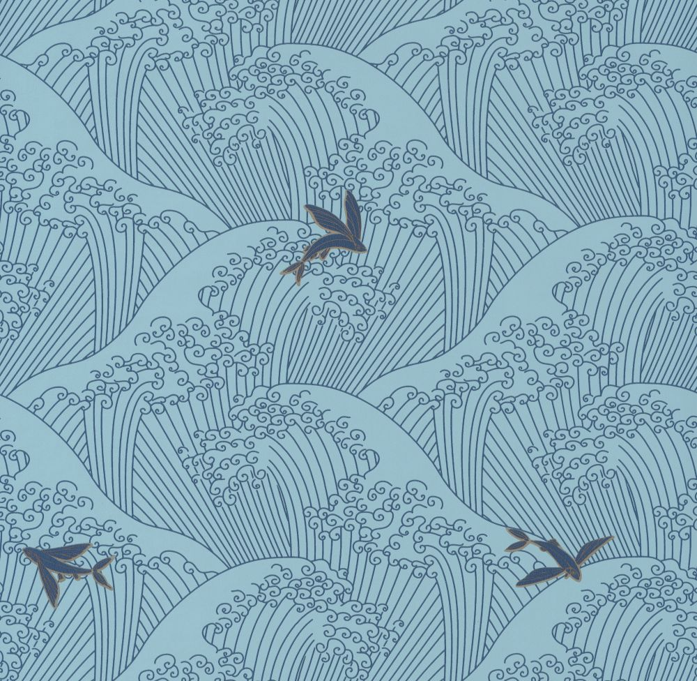 Caselio Sushi Pale Blue Wallpaper - Product code: HAN10039 62 37