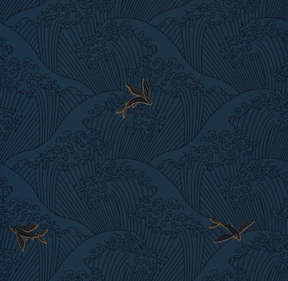 Caselio Sushi Navy Wallpaper - Product code: HAN10039 6822