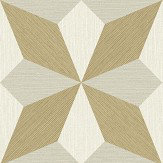 Albany Faux Grasscloth Geo Gold and Natural Wallpaper