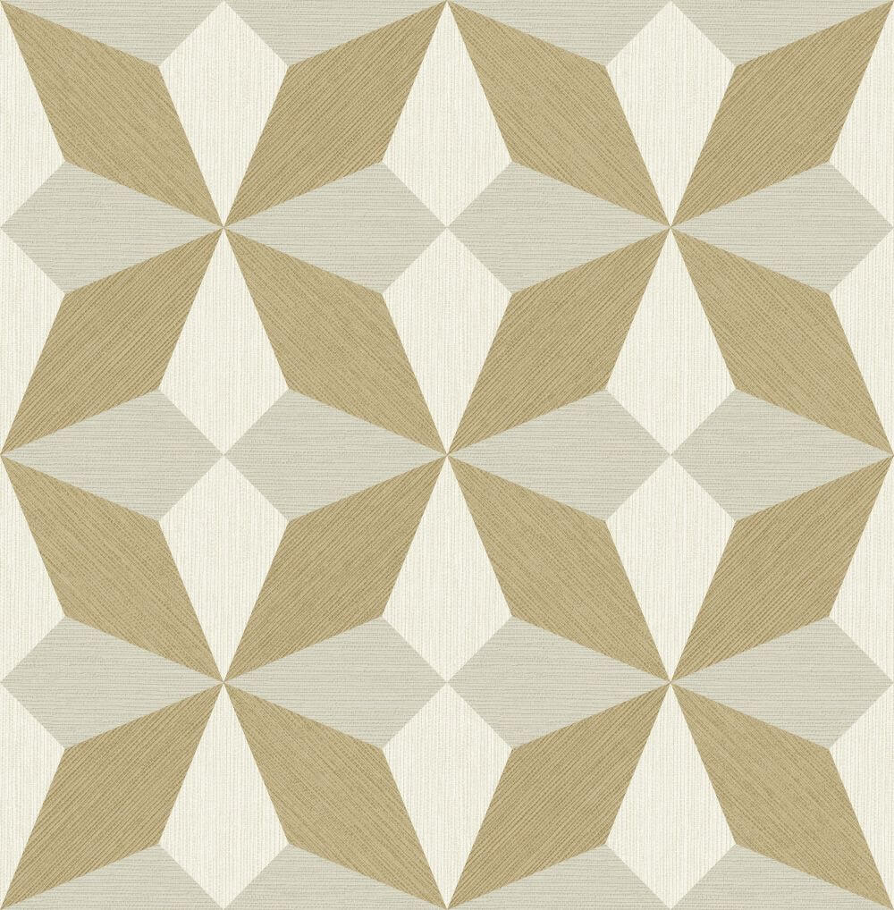 Albany Faux Grasscloth Geo Gold and Natural Wallpaper - Product code: CB41062