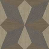 Albany Faux Grasscloth Geo Taupe and Black Wallpaper - Product code: CB41063