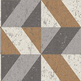 Albany Cork Triangles Copper and Grey Wallpaper