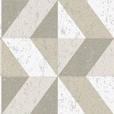 Albany Cork Triangles White and Natural Wallpaper