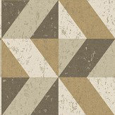 Albany Cork Triangles Gold Wallpaper