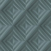 Hooked on Walls Fold Teal Wallpaper - Product code: 68011
