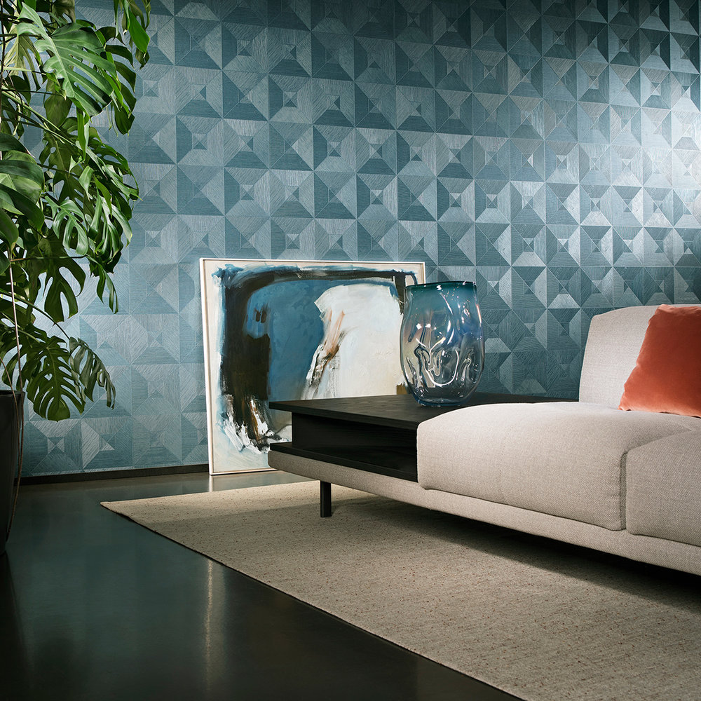 Arte Squared Teal Wallpaper - Product code: 26511