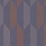 Arte Arrow Blue / Copper / Brass Wallpaper - Product code: 26525