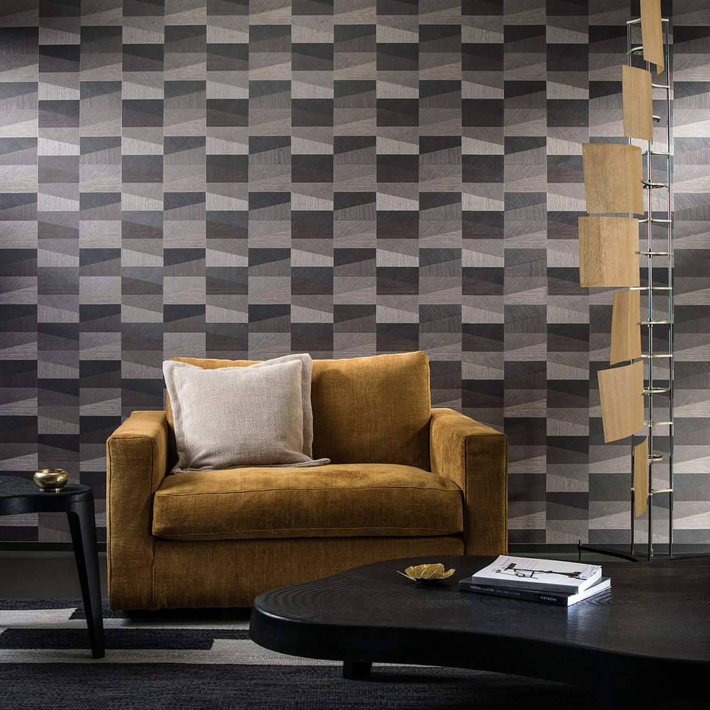 Arte Polygon Brown Wallpaper - Product code: 26552