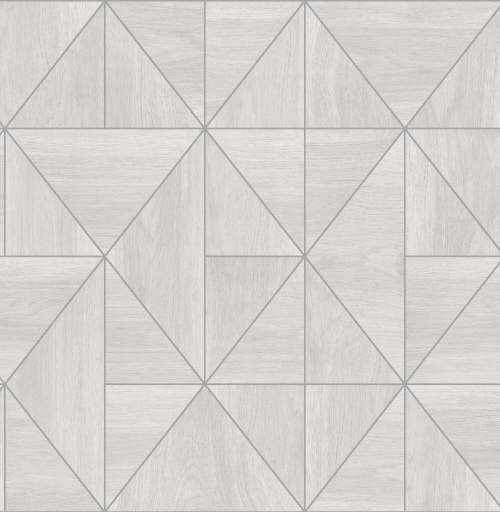 Albany Diamond Wood Grey and Silver Wallpaper - Product code: CB41080