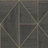 Albany Diamond Wood Black and Gold Wallpaper - Product code: CB41081
