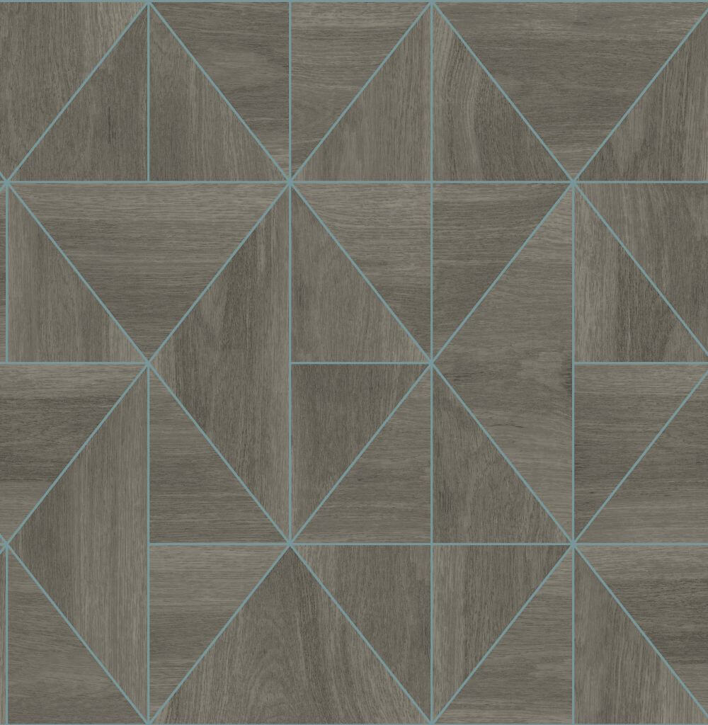 Albany Diamond Wood Grey and Blue Wallpaper - Product code: CB41082