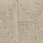 Albany Diamond Wood Natural and Gold Wallpaper