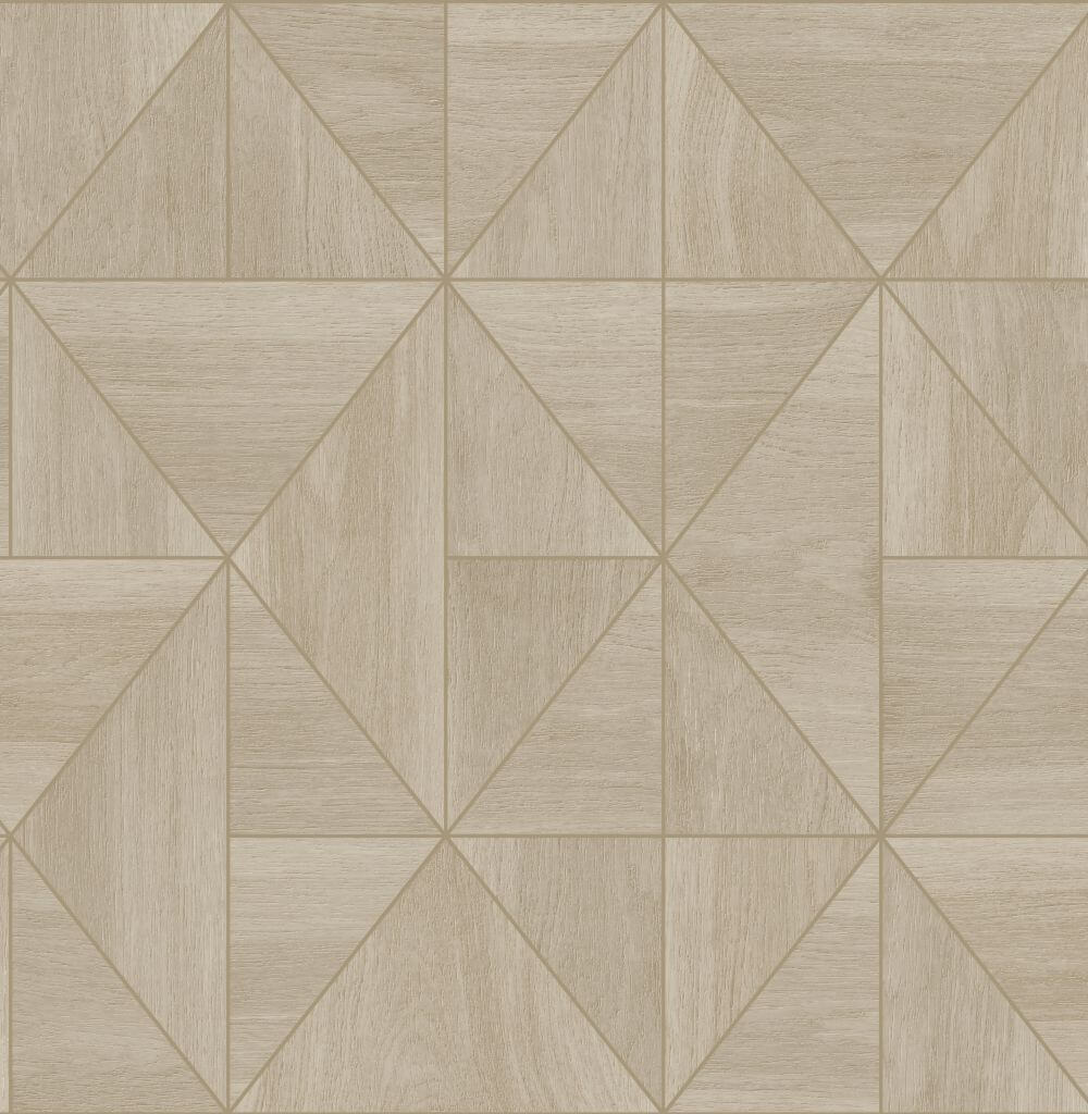 Albany Diamond Wood Natural and Gold Wallpaper - Product code: CB41083