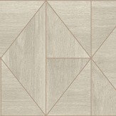 Albany Diamond Wood Light Natural and Rose Gold Wallpaper - Product code: CB41084
