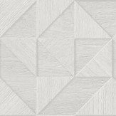 Albany Small 3D Wood Light Grey Wallpaper