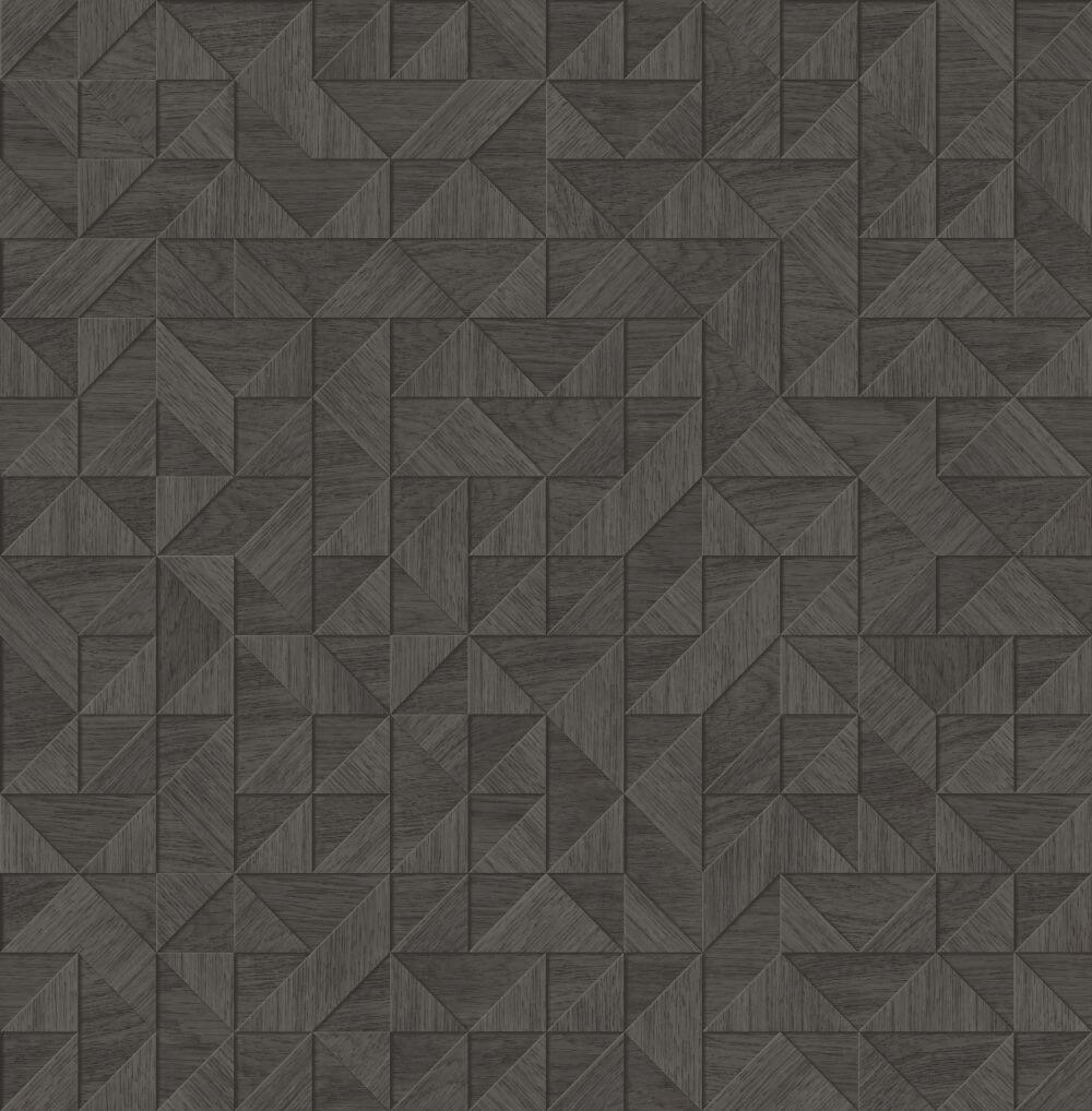 Albany Small 3D Wood Black Wallpaper - Product code: CB41086