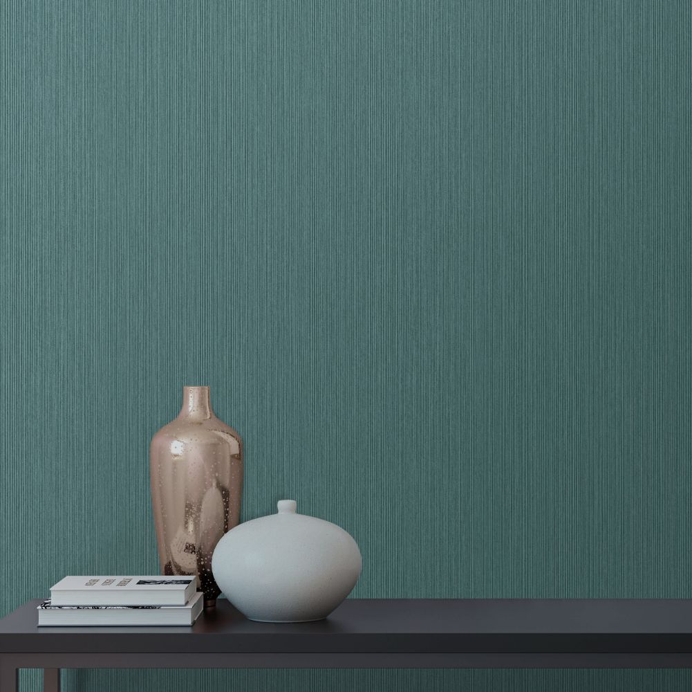 Plywood Texture Wallpaper - Teal - by Albany