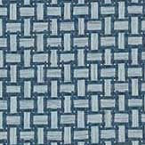 Thibaut Baker Weave Navy Wallpaper