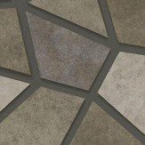 Albany Metallic Triangles Gold, Black and Grey Wallpaper
