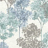 Albany Whinfell Teal & Blue Wallpaper