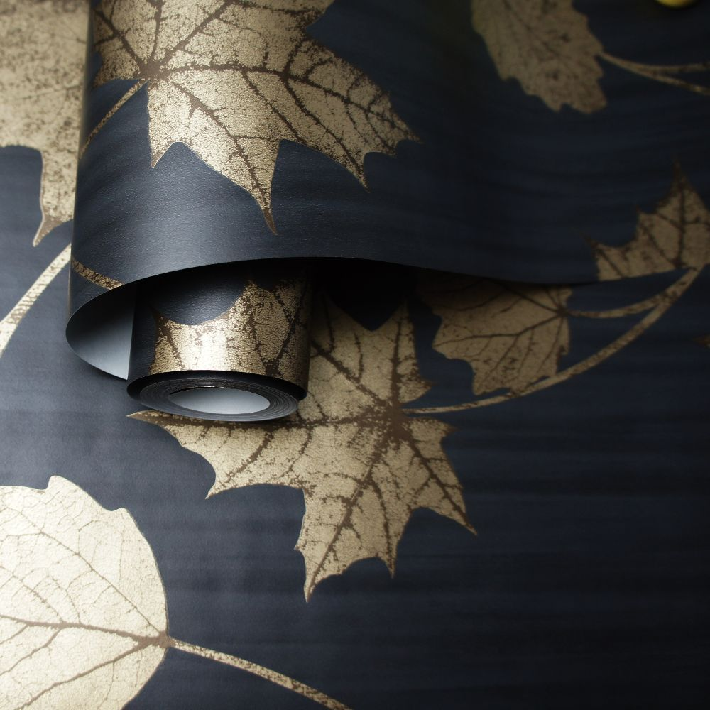 Maple Wallpaper - Black - by Albany