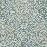 Thibaut Kasai Aqua Wallpaper - Product code: T2930