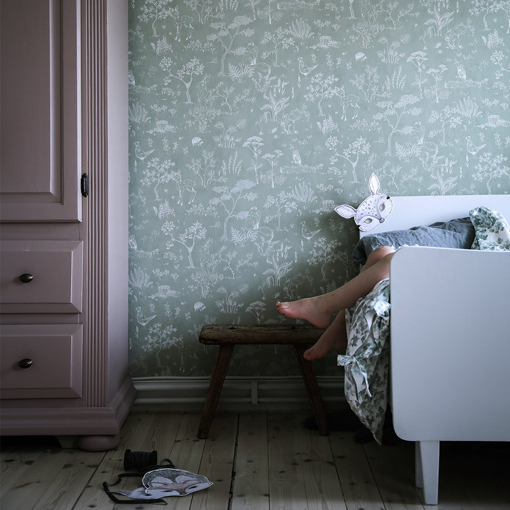 Hollie Wallpaper - Green - by Sandberg