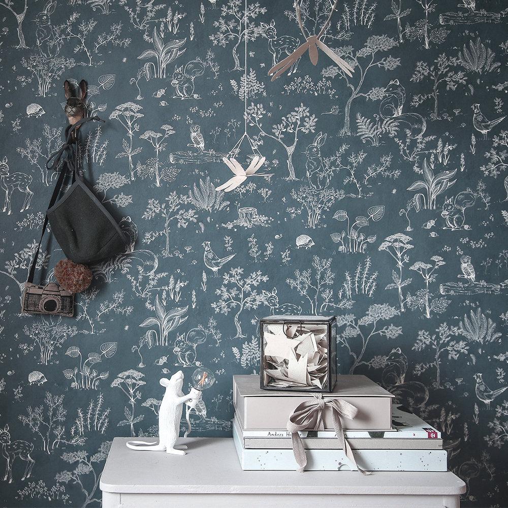 Sandberg Hollie Blue Wallpaper - Product code: 232-76
