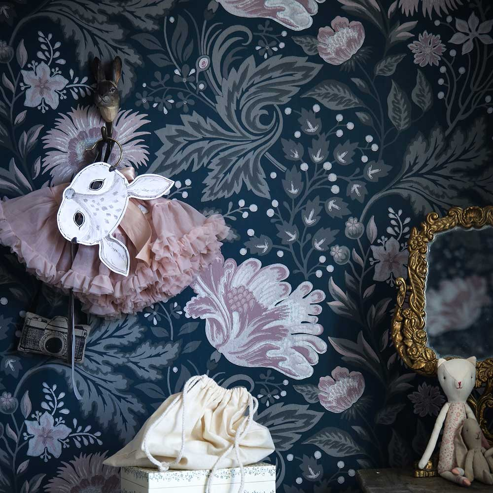 Sandberg Ava Dark Blue Wallpaper - Product code: 400-96