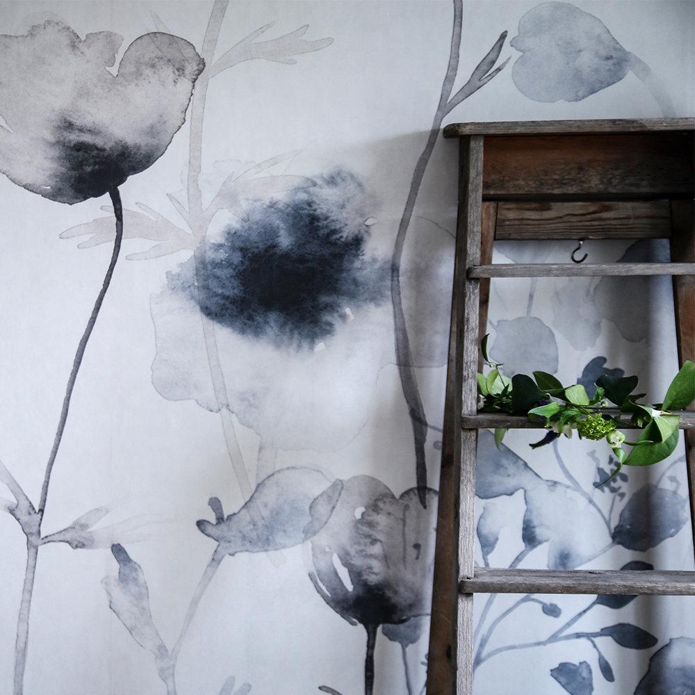 Sandberg Morängen Mural Inky Blue - Product code: 643-04FS