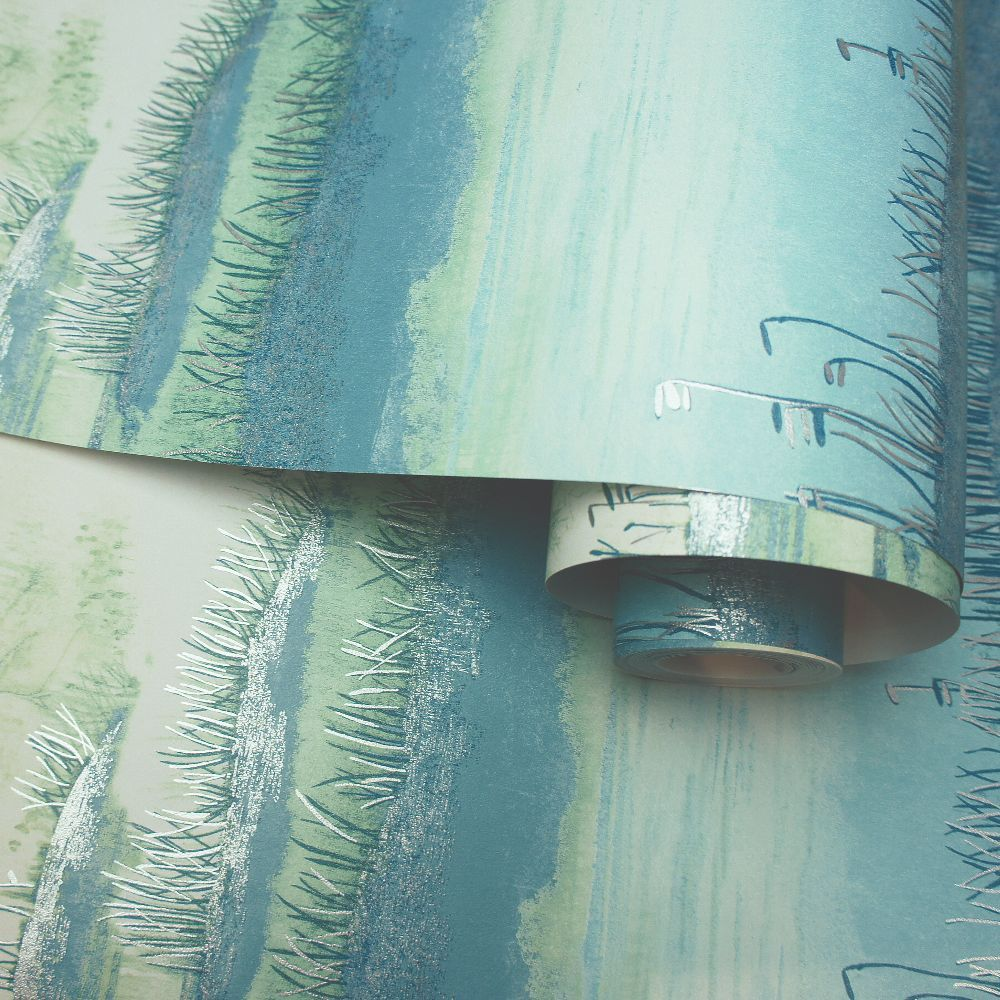 Albany Aaru Teal Wallpaper - Product code: 90441