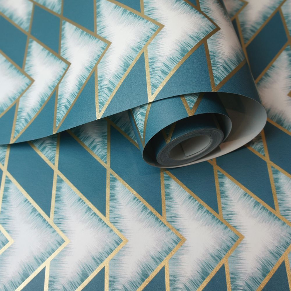 Eiger Wallpaper - Teal - by Albany