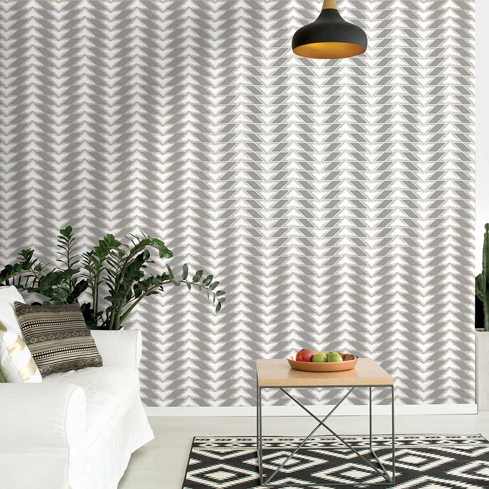 Eiger Wallpaper - Grey - by Albany
