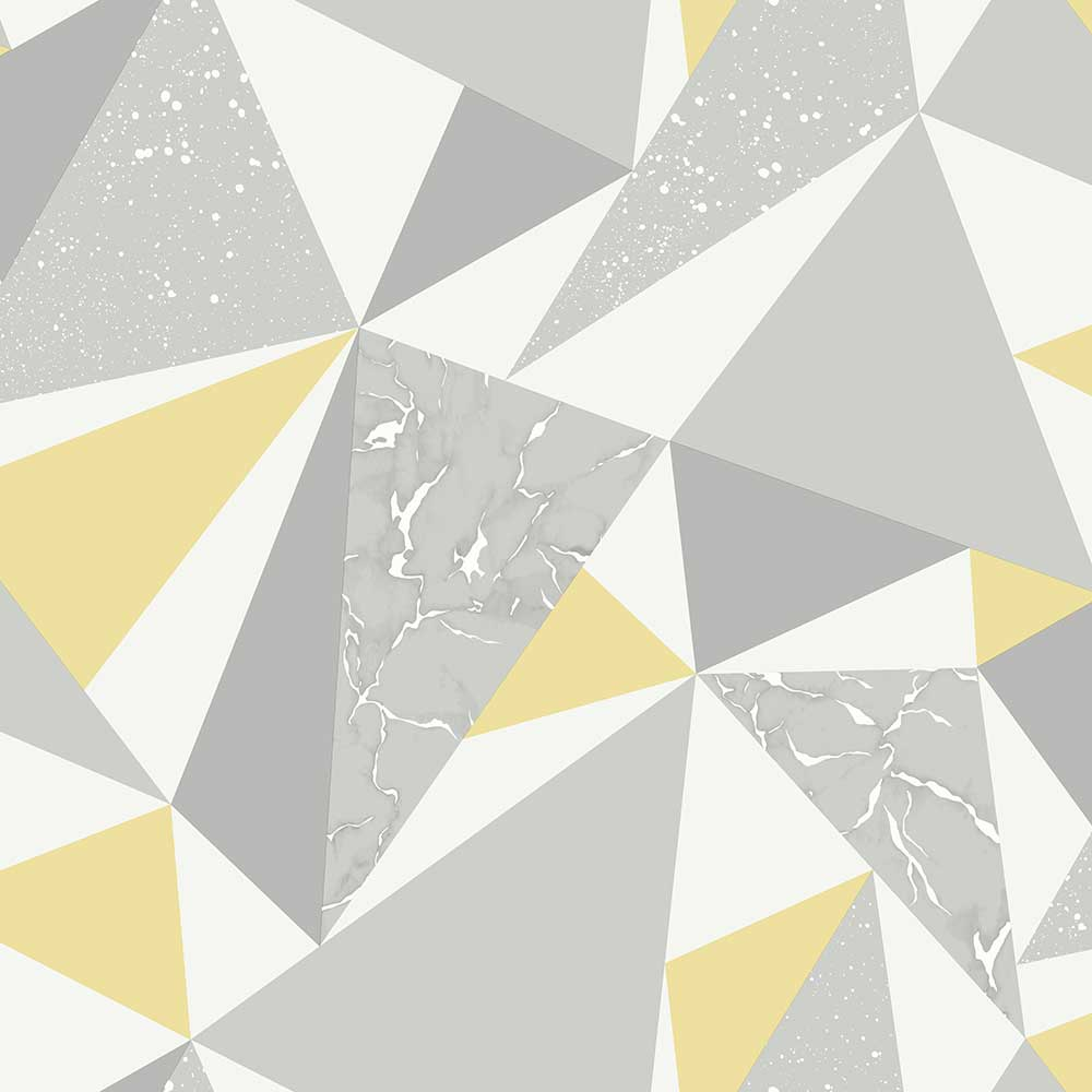 Albany Glacier Grey and Yellow Wallpaper - Product code: 90462