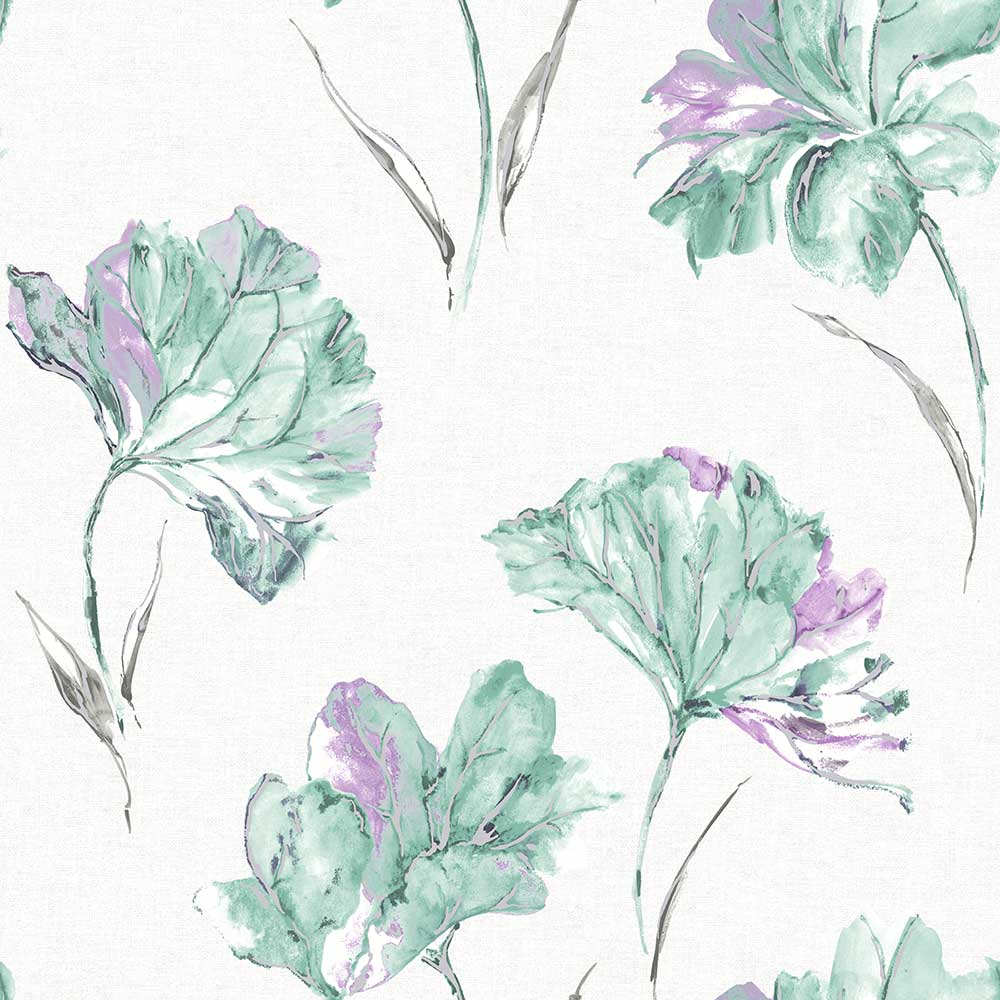 Albany Azalea Teal Wallpaper - Product code: 90482