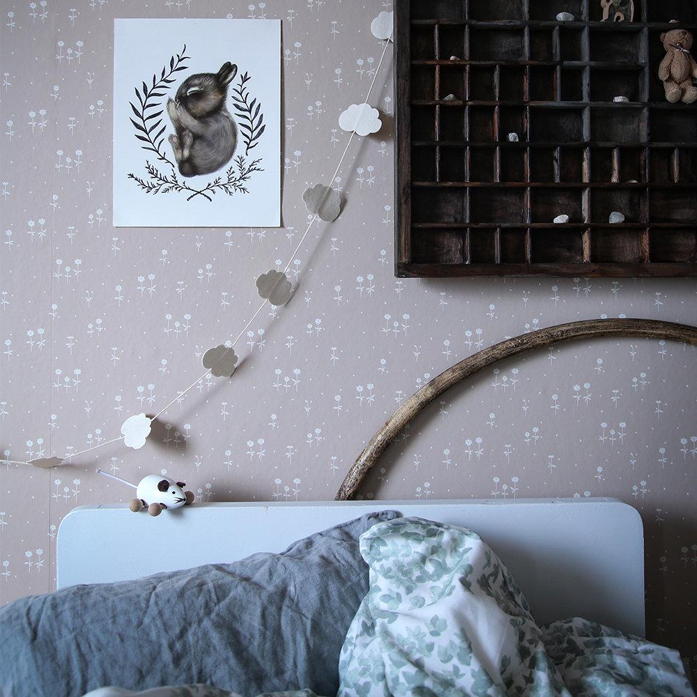 Sandberg Bianca Pink Beige Wallpaper - Product code: 802-24