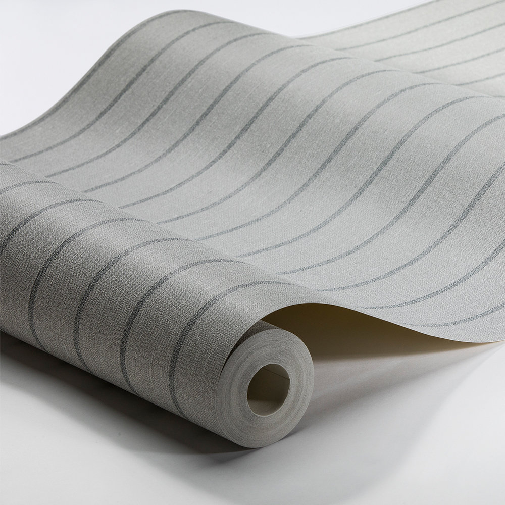 Boråstapeter Shirt Stripe Grey Green Wallpaper - Product code: 6859