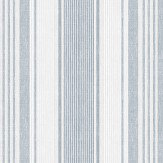 Boråstapeter Linen Stripe Blue, Grey and White Wallpaper - Product code: 6860