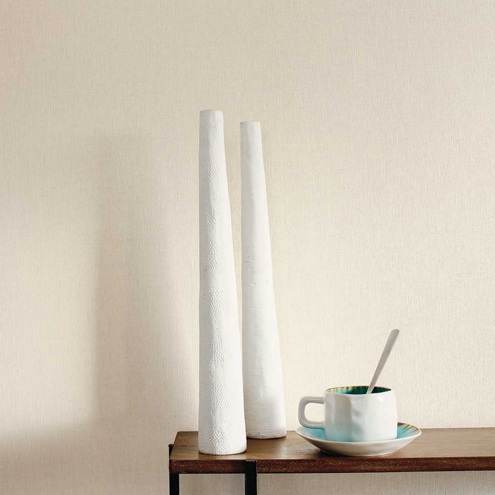 Caselio Linen Clear Beige Wallpaper - Product code: LINN68521150