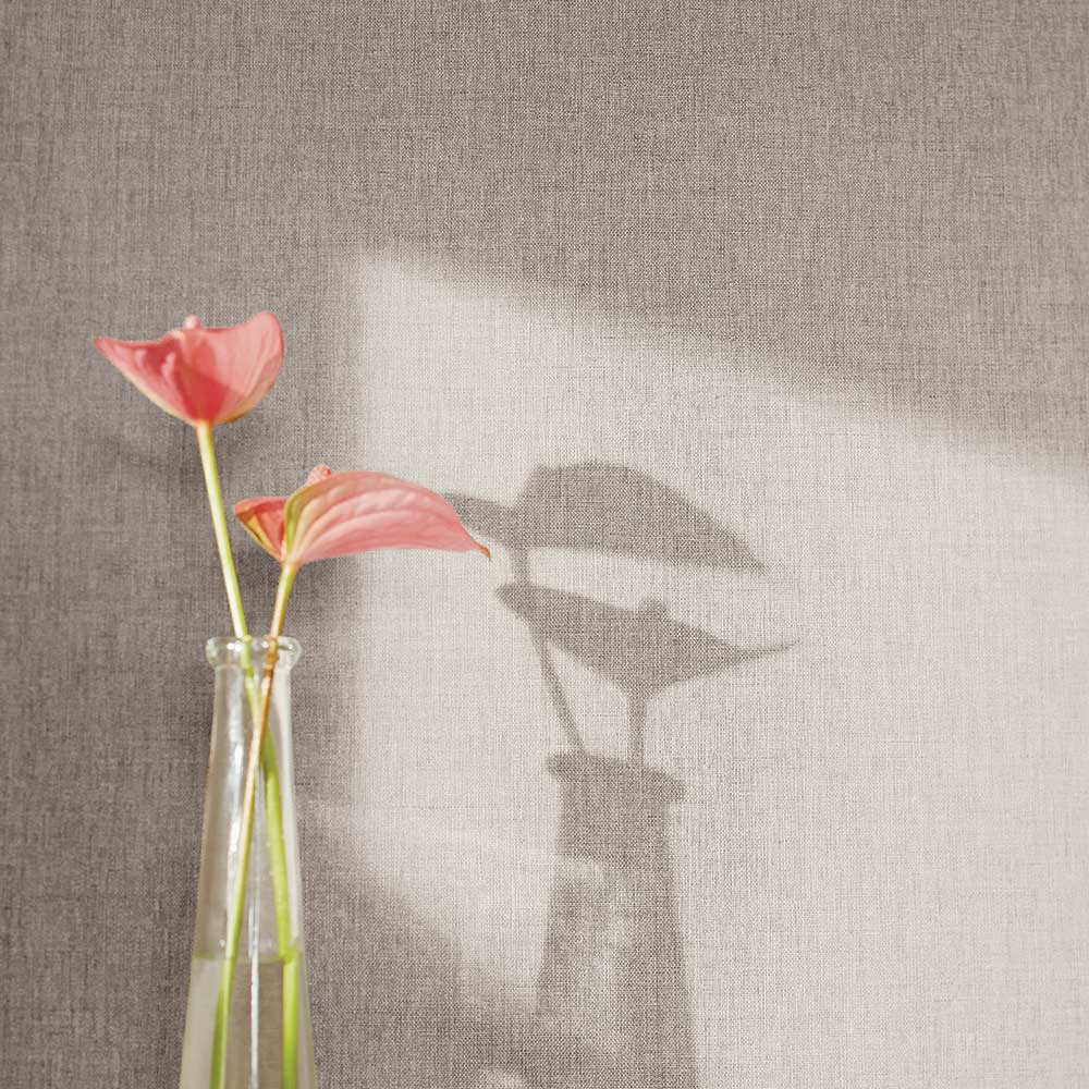 Linen Wallpaper - Mid Taupe - by Caselio