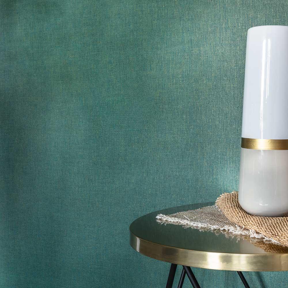 Caselio Linen Green Gold Wallpaper - Product code: LINN68527570