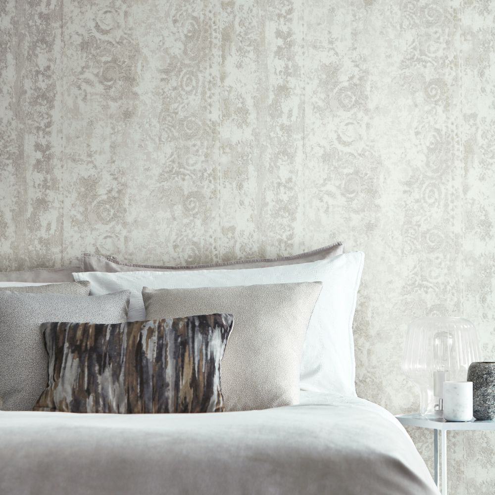 Pozzolana Wallpaper - Alabaster - by Anthology